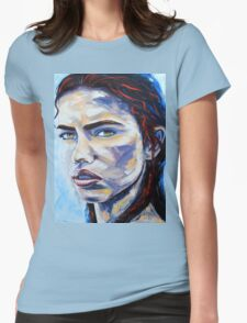 A Hot Night in Brazil by Lisa Elley. Palette knife painting in oil on gallery wrapped canvas Womens Fitted T-Shirt