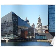 Liverpool Albert Dock CityScape Poster