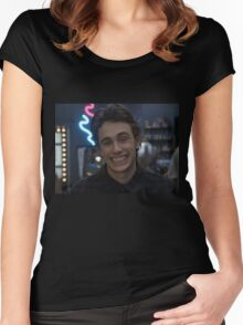 james franco 'freaks and geeks' t shirt Women's Fitted Scoop T-Shirt