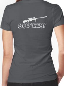 Got'eem! Women's Fitted V-Neck T-Shirt