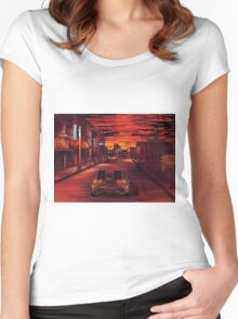 Back To The Future 1 Women's Fitted Scoop T-Shirt