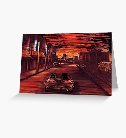 Back To The Future 1 Greeting Card