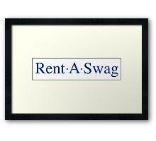 Rent A Swag Logo Framed Print