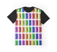 Rainbow London telephone boxes montage pattern Graphic T-Shirt