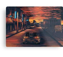 Back To The Future Version 2 Metal Print