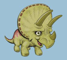 Cute Triceratops Kids Tee