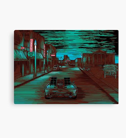 Back To The Future Version 3 Canvas Print