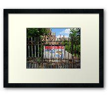 Haunted Newsham Park Hospital, Liverpool Framed Print