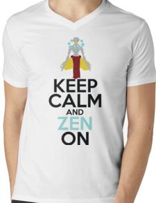 Keep Calm and Zen On Mens V-Neck T-Shirt