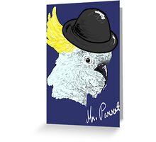 Bowler Hat Cockatoo Greeting Card