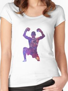 Muay Thai Fighter Colorful Women's Fitted Scoop T-Shirt
