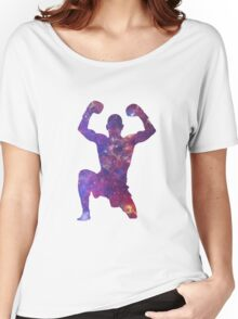 Muay Thai Fighter Colorful Women's Relaxed Fit T-Shirt
