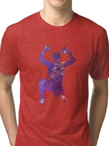 Muay Thai Fighter Colorful Tri-blend T-Shirt
