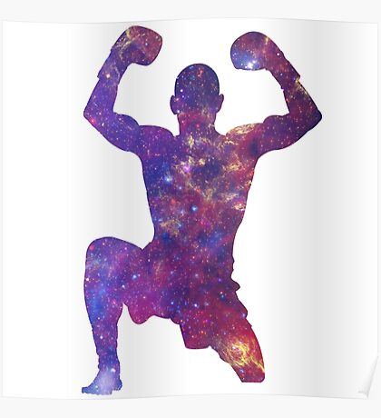 Muay Thai Fighter Colorful Poster