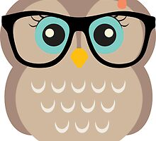 Cute Hipster Girl Owl by heartlocked
