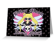 Biker Moon Greeting Card