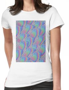 Flower Hologram Womens Fitted T-Shirt