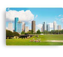 Houston Skyline Metal Print
