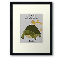 Angry Turtle Framed Print