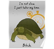 Angry Turtle Poster
