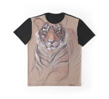 UNFINISHED BUSINESS - Original Tiger Drawing - Mixed Media (acrylic paint & pencil) Graphic T-Shirt