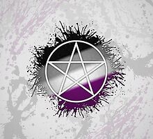 Pagan Pentacle Asexual by LiveLoudGraphic