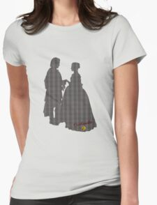Outlander Wedding Silhouettes Womens Fitted T-Shirt