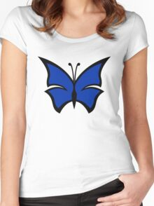 The Venture Brothers - Blue Morpho Logo Women's Fitted Scoop T-Shirt