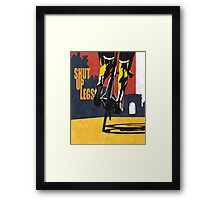 retro styled Tour de France cycling illustration poster print: SHUT UP LEGS Framed Print
