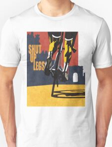 retro styled Tour de France cycling illustration poster print: SHUT UP LEGS T-Shirt