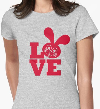 Bunny Love Womens Fitted T-Shirt