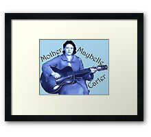 Maybelle Carter - Queen of Country Music Framed Print