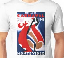 Vintage Carnaval Mondevideo Uruquay Fiesta Unisex T-Shirt