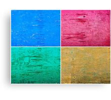 Photo collage of grunge wood painted texture backgrounds Canvas Print