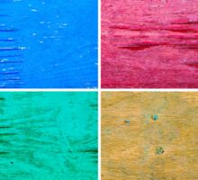 Photo collage of grunge wood painted texture backgrounds Sticker