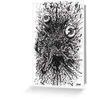BLOW UP HEAD Greeting Card