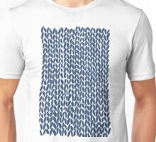 Hand Knit Navy Unisex T-Shirt