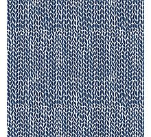 Hand Knit Navy Photographic Print