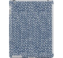 Hand Knit Navy iPad Case/Skin