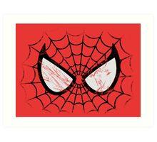 Spider-Man face Art Print