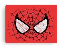Spider-Man face Canvas Print