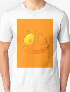 Cheeky Pumpkin Face on Pumpkin Orange Unisex T-Shirt