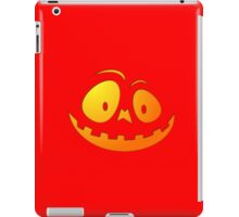 Cheeky Pumpkin Face on Devil Red iPad Case/Skin