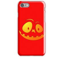 Cheeky Pumpkin Face on Devil Red iPhone Case/Skin