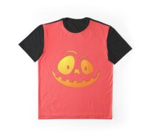 Cheeky Pumpkin Face on Donated Kidney Pink Graphic T-Shirt