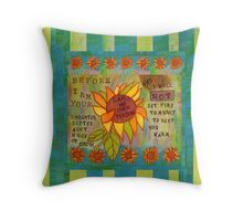 My Own Person Sunflower Throw Pillow