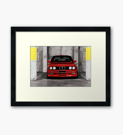 Red Sports Car - Front Framed Print