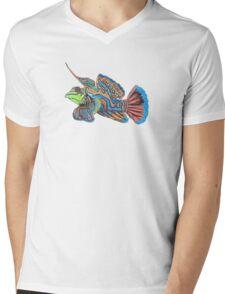 Mandarin Fish Mens V-Neck T-Shirt
