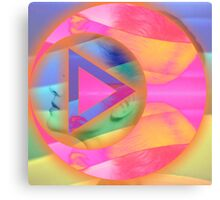 Abstract art,all jammed up,colorful,double exposure,digital photo manipulation Canvas Print