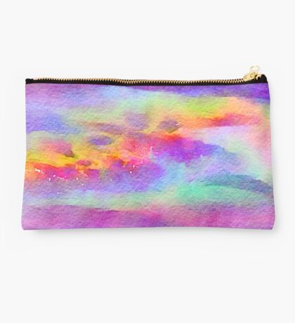 Beautiful,abstract,colorful,hand painted,purple,turquoise,pink,orange,mint,red,pink,lavender,yellow Studio Pouch